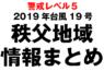 【随時更新】2019年台風19号 秩父地域情報まとめ